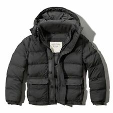 Abercrombie Men Hunters Pass Puffer hoodie outerwear jacket size S