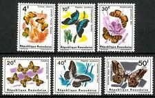 RWANDA - RUANDA - 1966 - Farfalle diverse