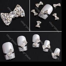 10pcs 3D Shiny Bow Tie Crystal Rhinestone Alloy Nail Art Glitters DIY Decoration