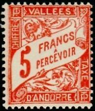 """ANDORRE FRANCAIS STAMP TIMBRE TAXE 20 """" TYPOGRAPHIE 5F """" NEUF x TB"""
