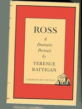 TERENCE RATTIGAN Ross A Dramatic Portrait  play in 2 acts HB/DJ Vintage 1960