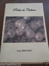 Jany Brochet: perles de culture, envoi de l'auteur