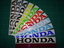 "2 x HONDA Large (300mm 12"") Vinyl Decals / Stickers Tank, Swingarm , Bellypan"