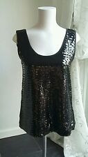 New Black Mango Sequined Vest Top - sleeveless - party - evening - club wear