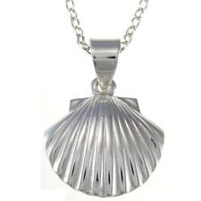 """Sterling Silver Sea Shell Pendant with 18"""" Chain & Box"""