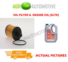 PETROL OIL FILTER + FS 5W40 ENGINE OIL FOR PEUGEOT 106 1.1 60 BHP 1996-04