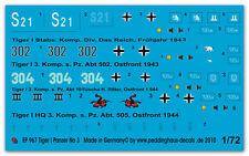 1/72 Markierungen für Tiger I Panzer No 3 967