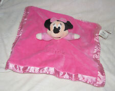 Disney MINNIE MOUSE Baby Lovey Security Blanket Pink Rattle Crinkle Ears Soother