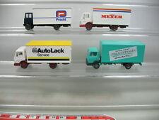 AB170-0,5# 4x Wiking H0 LKW Mercedes-Benz MB: AutoLack, Meyer, Pracht etc, TOP