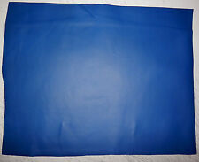 """Blue Cowhide Upholstery Leather Remnants Scraps 13""""x16"""" avg 1mm thick #674"""