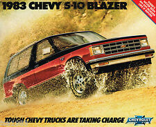 1983 Chevy S-10 / S10 BLAZER Truck Brochure / Catalog with Color Chart:Tahoe,4x4