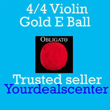 Pirastro Obligato Violin Strings Set 4/4 Gold Ball E