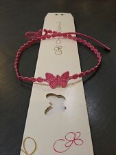 """RARE and Limited NEW Cruciani Butterfly Necklace In Baby Pink """"Rosa Baby"""""""