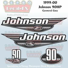 complete outboard engines in brand johnson 1999 00 johnson 90 hp gunmetal grey outboard reproduction 4pc marine vinyl decal