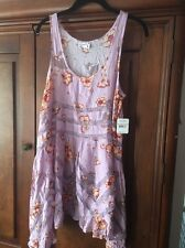 Free People Intimately Voile Trapeze Slip Dress Small NWT Lilac/Floral