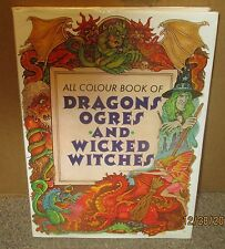 VG 1998 HC dj Fairy Tale Colour Book Dragons Ogres Wicked Witches Milos Maly