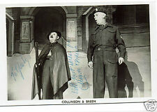 Collinson & Breen Theatre Actors Comedians  Hand Signed Vintage Photograph 5 x 3