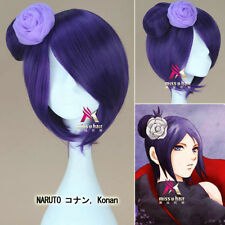 NARUTO Konan Short Dark Purple Cosplay Party Wig Hair