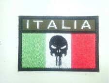 Patch bandiera italiana italia esercito airsoft softair punisher forze speciali