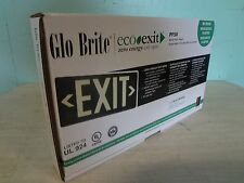"BRAND NEW IN BOX  COMMERCIAL ""GLO BRITE"" ECO EXIT SIGN 50' VIEWING DISTANCE"