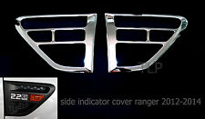 CHROME SIDE VENT INDICATOR COVER TRIM FOR FORD RANGER PX XLT PICKUP UTE 2012-14