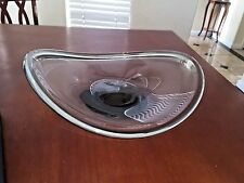 "VINTAGE HOLMEGAARD PER LUTKEN 1958 ART GLASS BOWL CENTERPIECE 15"" SIGNED"