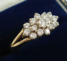 Vintage 18ct Gold Diamond Cluster Ring. 0.45 Carats.