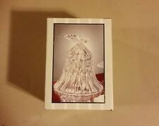 """New in box--""""Crystal Clear Industries"""" lead crystal bell with butterfly, 4"""" tall"""