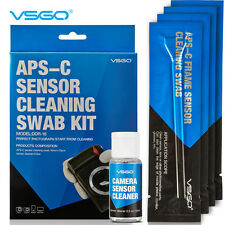 APS-C DSLR Sensor Cleaning Swabs 12PCS+CCD/CMOS Clean Fluid for Digital Camera