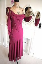 Betsey Johnson 12 Medium Vintage Pink Asymmetrical Sleeveless Evening Dress