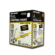 Road Parking Lot Flat White Striping Floor Spray Aisle Marking Paint Box 6-Pack