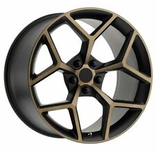TWO 20X10 & TWO 20X11 BLACK / BRONZE ACCENTS Z28 CAMARO STYLE WHEELS SS LS RS LT