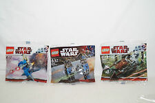 Lego Star Wars Polybag 30005 Imperial Speeder Bike 8028 Tie Fighter 30004 Battle