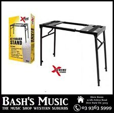 Xtreme Heavy Duty Bench Style Stand for DJ Turntables Mixers Folds flat - NEW