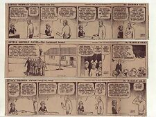 Little Orphan Annie by Gray - 13 large 5 column daily comic strips - Oct. 1942