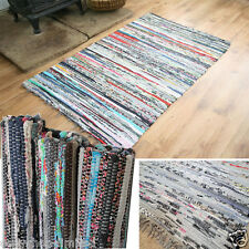 Handmade Vintage Colorful Rag Rug Fair Trade Chindi Reversible Carpet 90x150cm