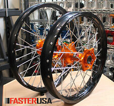 KTM MX WHEELS KTM450SXF 04-14 SET DID DIRTSTAR STX RIMS FASTERUSA HUBS NEW