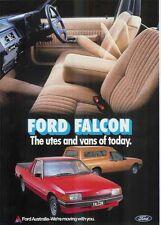 1984 FORD XE FALCON UTE & VAN Australian Brochure & Spec Sheet