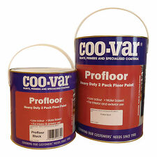 Coo-Var Pro Floor Paint | Green | 2 Pack | Water Based | 5Kg