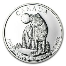 2011 1 oz Silver Canadian Wolf Coin - Wildlife Series