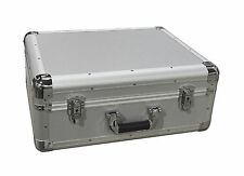Universal DJ Turntable Vinyl Record Deck Flight Case Carry Case LP SILVER BOX