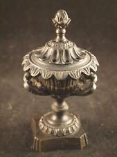 Antique Grand Tour Bronze Pastille Burner c1820 Lidded Campana Urn #1