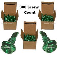"Self Tapping #10 5/16"" x 1/2"" Ground Grounding Screw Hex Green 300 SKY32323 x3"
