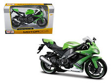 2010 KAWASAKI NINJA ZX-10R GREEN 1/12 MOTORCYCLE MODEL BY MAISTO 31187