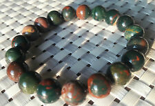 Blood Stone Bracelet 10 MM Instils Courage Comfort and Strength AAAAA+++++