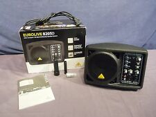 BEHRINGER B205D COMPACT 150 WATT MONITOR P/A SPEAKER SYSTEM w/ BOX & MANUAL