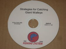 Strategies for Catching Giant Walleye Video DVD  Sports Fishing