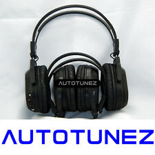 2X WIRELESS IR CORDLESS Dual Channel Stereo Headphones Infrared ozproz