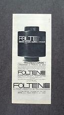 H968- Advertising Pubblicità -1963-  FOLTENE , IL PRODOTTO CON TRICOSACCARIDE