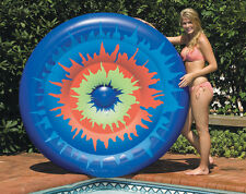 Tie Dye Island Inflatable Lounger for Swimming Pool & Beach